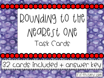 Rounding to the Nearest One with Decimals