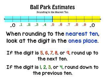 Rounding to the Nearest Ten (Ball Park Estimates)