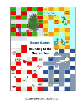 Rounding to the Nearest Ten  Board Games
