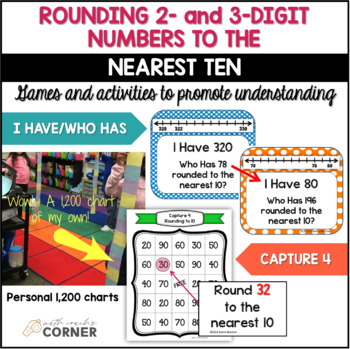 Rounding to the Nearest Ten: CCSS and TEKS Aligned