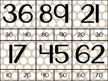 Rounding to the Nearest Ten Clip Cards {3.NBT.1} {4.NBT.3}