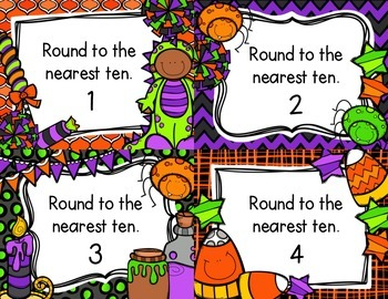 Rounding to the Nearest Ten Task Cards