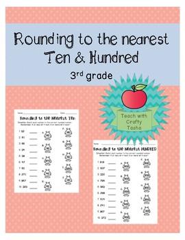 Rounding to the Nearest Ten & Hundred Worksheets