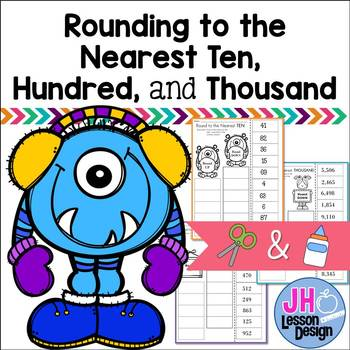 Rounding to the Nearest Ten, Hundred, and Thousand - Cut and Paste