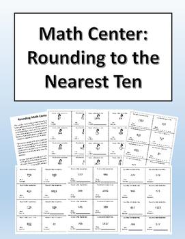 Rounding to the Nearest Ten Math Center