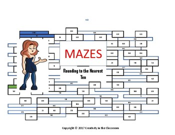 Rounding to the Nearest Ten   - Mazes