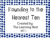 Rounding to the Nearest Ten NBT1.  FREE