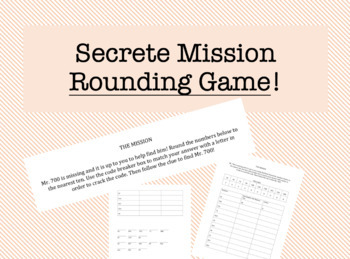 Rounding to the Nearest Ten (Secrete Mission Game)