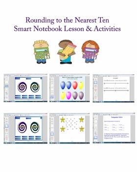 Rounding to the Nearest Ten Smart Board Lesson Common Core