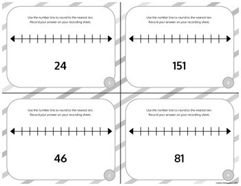 Rounding to the Nearest Ten: Task Cards & Answer Sheets [FREEBIE]