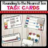 Rounding to the Nearest Ten Task Cards in English & Spanish