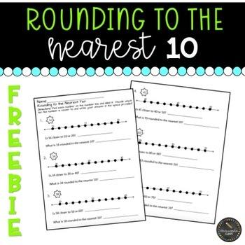 Rounding to the Nearest Ten Worksheet FREEBIE