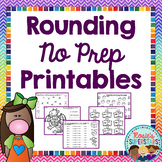 Rounding to the Nearest Ten and Hundred No Prep Printables