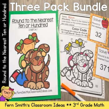 3rd Grade Go Math Lesson 1.2 Rounding to the Nearest Ten and Hundred Bundle