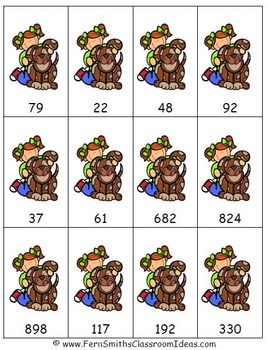 Rounding to the Nearest Ten or Hundred - Center and Printables