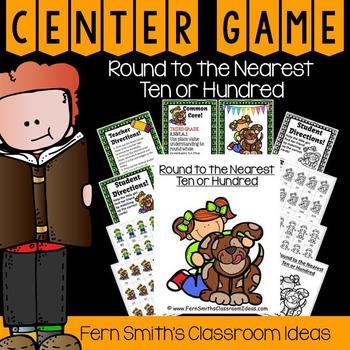 3rd Grade Go Math 1.2 Rounding to the Nearest Ten or Hundred Center Game