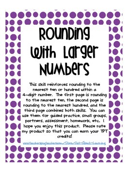 Rounding to the Nearest Ten or Hundred Within Larger Numbers