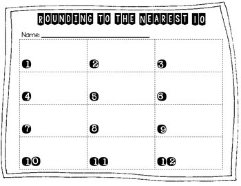 Rounding to the Nearest Ten with Four Digit Numbers
