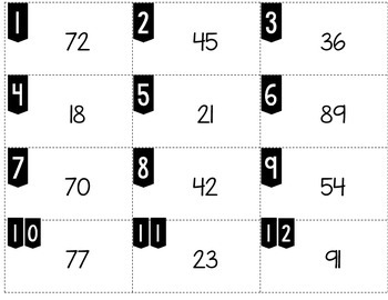 Rounding to the Nearest Ten with Two Digit Numbers Tiny Task Cards
