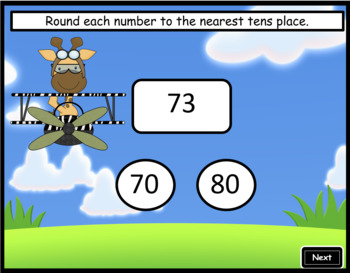Rounding to the Nearest Tens ~ Interactive PPT Game