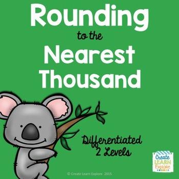 Rounding to the Nearest Thousand Animal Theme