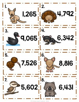 Rounding to the Nearest Thousand Animal Theme
