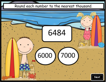Rounding to the Nearest Thousand ~ Interactive PPT Game