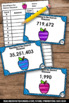 Rounding Task Cards to the Nearest 1000, 4th Grade Math Centers & Games