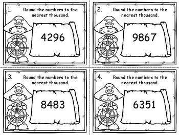 Rounding to the Nearest Thousand Task Cards
