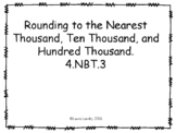 Rounding to the Nearest Thousand, Ten Thousand, and Hundred Thousand