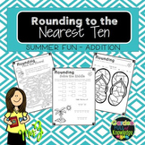 Rounding to the Tens - Adding with 2 Digit Numbers, Color by Code