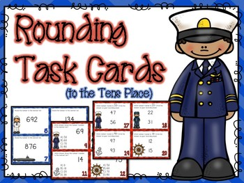 Rounding to the Tens Place Task Cards