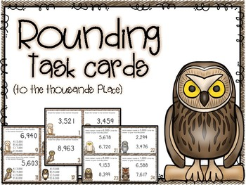 Rounding to the Thousands Place Task Cards