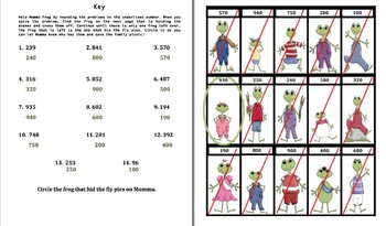 Rounding to the Underlined (A frog ws/center activity)