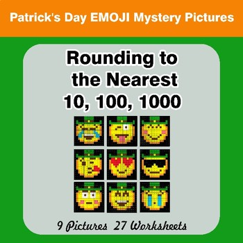 Rounding to the nearest 10, 100, 1000 | St. Patrick's Day Mystery Pictures