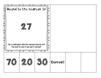 Rounding to the nearest 10 Clip and Assess Cards
