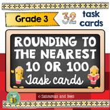 Rounding task cards -3rd grade- {Common Core -3.NBT.1}