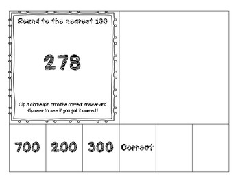 FREEBIE!! Rounding to the nearest 100 Clip and Assess Cards