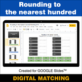 Rounding to the nearest 100 - Google Slides - Distance Lea
