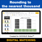 Rounding to the nearest 1000 - Google Slides - Distance Le