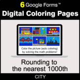 Rounding to the nearest 1000th - Digital Coloring Pages | Google Forms