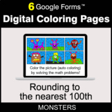 Rounding to the nearest 100th - Digital Coloring Pages | Google Forms