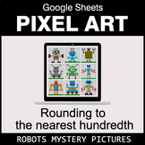 Rounding to the nearest 100th - Google Sheets Pixel Art - Robots
