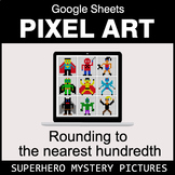 Rounding to the nearest 100th - Google Sheets Pixel Art -