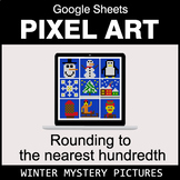 Rounding to the nearest 100th - Google Sheets Pixel Art - Winter