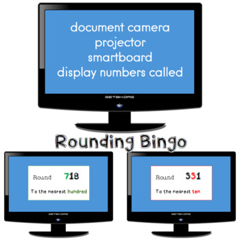 Rounding to the nearest ten and Rounding to the nearest hundred BINGO
