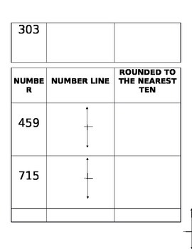 Round to the nearest ten on number line