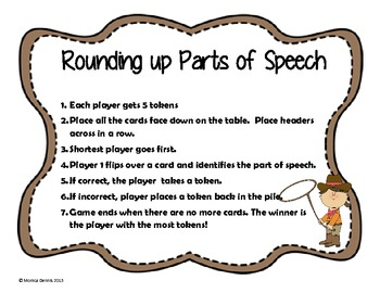 Rounding up Parts of Speech