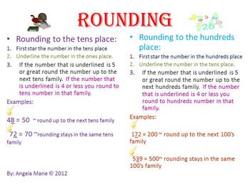 Rounding with Addition and Subtraction- Math Core Curriculum