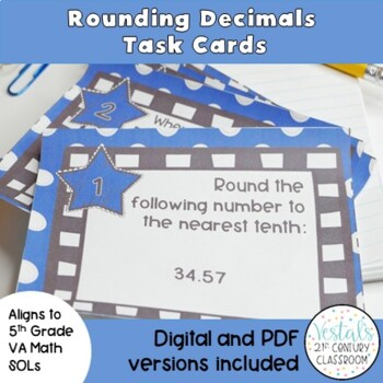 Rounding with Decimals Task Cards